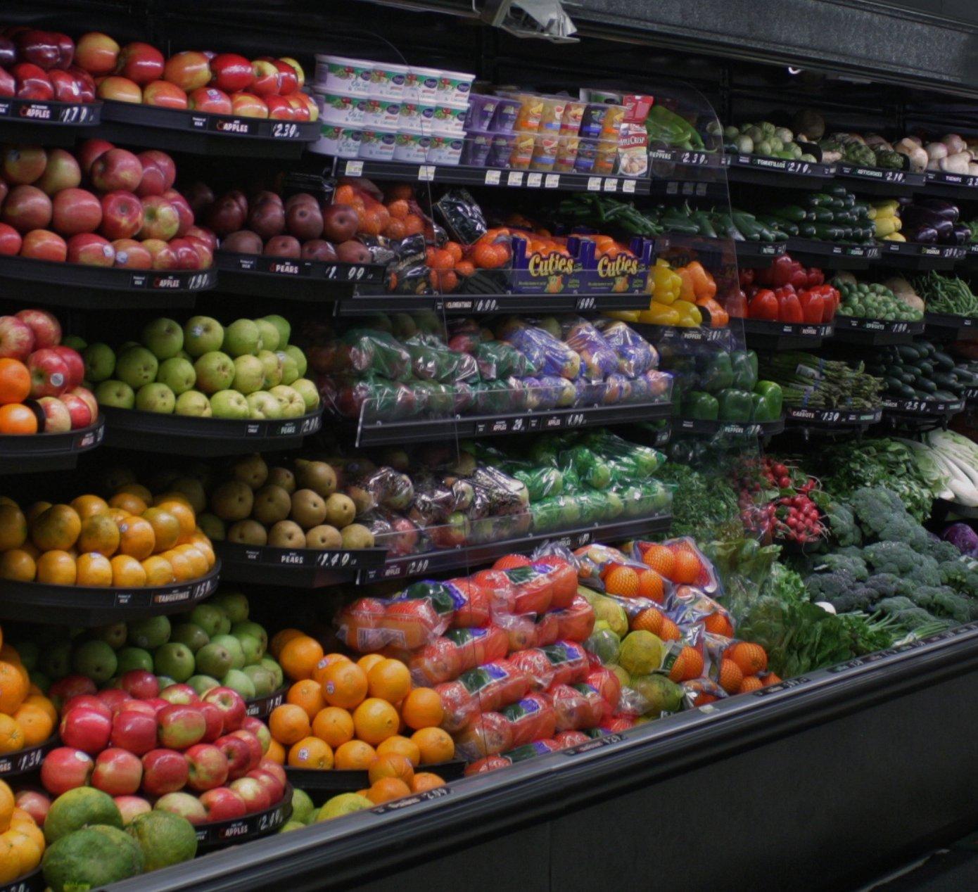 отдушина, любимое красивая витрина с овощами и фруктами фото выбора кратности