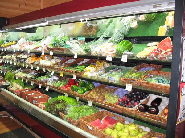 Выкладка овощей и зелени в отделах самообслуживания